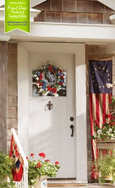 #CountryDoorSweepsEntry  Country Door's Front Door Pinterest Sweepstakes! What does your dream front door look like? Enter for a chance to win our Summer Star & 3-Tier Flower Cart! #CountryDoorSweepsEntry www.countrydoor.com/pinterestsweeps