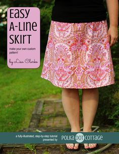 Make your own custom pattern! Whenever I get my hands on a few yards of a pretty cotton print, I make a skirt. My go-to skirt pattern is one that I drafted myself, using my own measurements as a st...