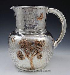Gorham mixed metals water pitcher