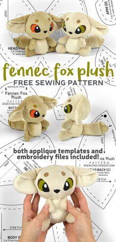 useful fabric crafts Choly Knight Plushie Patterns, Animal Sewing Patterns, Sewing Patterns Free, Free Sewing, Doll Patterns, Free Pattern, Softie Pattern, Sewing Toys, Sewing Crafts