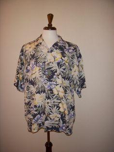 Tommy Bahama Vintage Original Aloha Tiki Polynesian Camp Shirt Medium