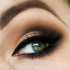 This classy eye makeup features neutral shades of brown perfect for your formal event. Blend perfectly and achieve this stunning look using these products.