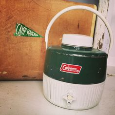 A personal favorite from my Etsy shop https://www.etsy.com/listing/293492709/vintage-coleman-water-jug-green-steel