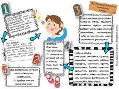Learn Greek, Preschool Education, Special Education, Writing Prompts, Grammar, Elementary Schools, Bullet Journal, Teaching, Activities