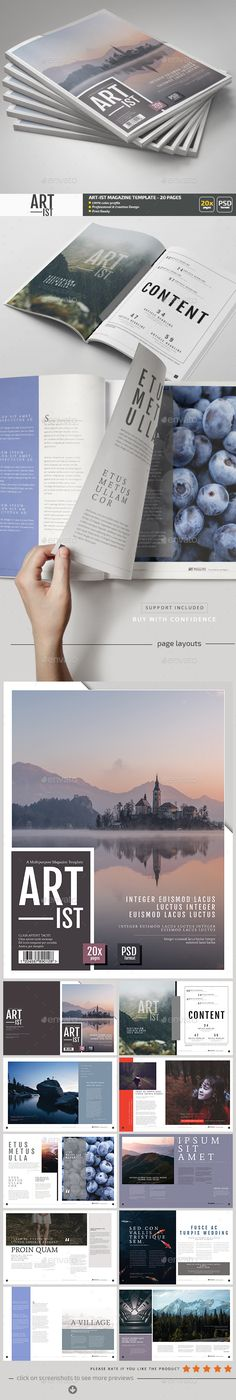 Art-ist Magazine Template PSD - 20 Pages