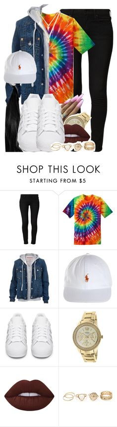 """870"" by tuhlayjuh ❤ liked on Polyvore featuring True Religion, adidas Originals, FOSSIL and BaubleBar"