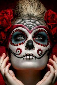 Makeup halloween catrina mexico 52 New Ideas Fröhliches Halloween, Halloween Makeup Looks, Vintage Halloween, Halloween Costumes, Pretty Halloween, Halloween Vampire, Halloween Design, Costume Makeup, Party Makeup