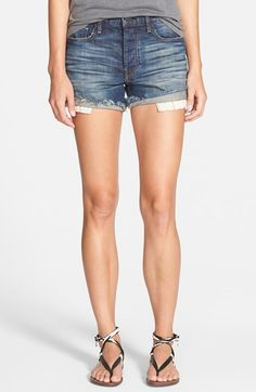 Genetic 'Zoe' High Rise Cutoff Shorts (Topanga) $189 available at #Nordstrom