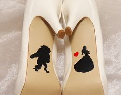 Wedding shoe decals. These decals are made out of a durable vinyl. Belle and…