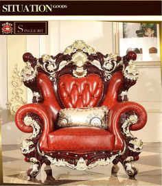 Cheap muebles de sala, Buy Quality leather sofa set directly from China living room furniture china Suppliers: luxury European Style Wooden Full Leather Sofa set living room furniture china Sofa Champagne Gold Colour muebles de sala Furniture, Carved Furniture, Living Room Sofa, Funky Furniture, Sofa Furniture, Sofa Design, Luxury European Style, Leather Sofa Set, Red Decor