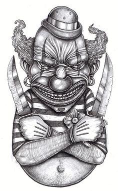 Tattoo design: Killer Clown by tjiggotjurring.deviantart.com on @DeviantArt