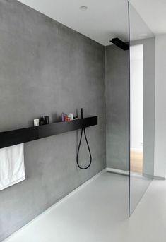 Badezimmer Armaturen in Schwarz – Stilvolle und moderne Badausstattung, WOHNKULTUR, minimalistisches design graue wand dusche trennwand glas badezimmer armaturen schwarz