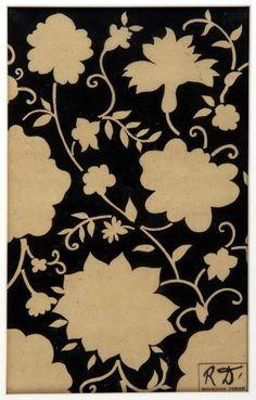 """nobrashfestivity: """"Raoul Dufy, Parterre de fleurs et de feuilles,1920, Textile Design """""""