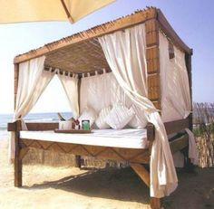 outdoor bed at nikki beach marbella Outdoor Beds, Outdoor Spaces, Outdoor Living, Outdoor Furniture, Outdoor Decor, Nikki Beach Marbella, Luxury Beach Resorts, Beach Cabana, Puerto Banus