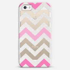 Silver Chevron Pink Crystal Clear Iphone Case Iphone 5s Case By Monika Strigel | Casetify by Casetify - Found on HeartThis.com @HeartThis | See item http://www.heartthis.com/product/309885951980350502/