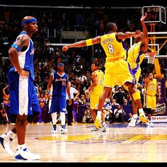 Classic Lakers Clippers Pic  Kobe   Chucky Atkins celebrate in 2004 against  the Clips 04f6f312b