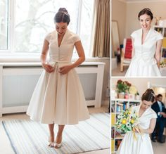 A 50's inspired bride for a chic Jewish wedding at New London Synagogue and the Royal Institute of British Architects, London, UK