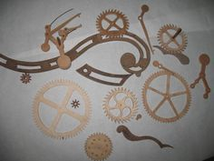 Want a site with FREE wooden gear clock plans?  This is the place.  Yes, they are mostly ancient designs, but they can be modified for modern tastes.