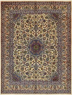 Ivory 9' 8 x 12' 9 Kashmar Persian Rug   Persian Rugs   iRugs UK