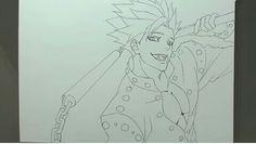 Drawing - Ban (Nanatsu no Taizai) Mayara Rodrigues Seven Deadly Sins, Fanart, Anime, Drawings, Black White Photos, Monsters, Blue Prints, Fan Art, Cartoon Movies