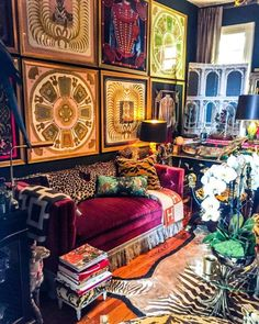 Instagram's Favorite Pretentious Maximalist Shares the Joys of Living Well - 1stDibs Introspective Joy Of Living, Home And Living, Maximalist Interior, Eclectic Decor, Home Buying, Decoration, Living Room Decor, Living Spaces, Interior Decorating