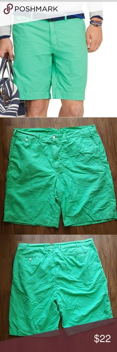 Men's Polo Ralph Lauren Newport chino shorts Men's Polo Ralph Lauren shorts Gently worn DH lost a lot of weight recently and shorts are too big on him.  Great for summer! Cotton material is breathable and not too thick. Polo by Ralph Lauren Shorts