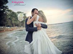 Wedding in Greece , beach wedding , Spetses , bride and groom , Kalypsis events entertainment