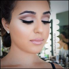A closer look from my last post. Her eyes were perfect for this look! #makeupbylilit (via #spinpicks)