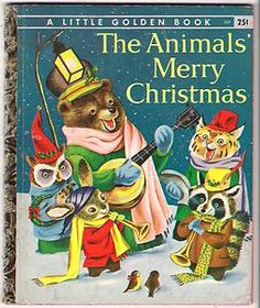 """""""The Animals' Merry Christmas,"""" Little Golden Book with Illustrations by Richard Scarry, Note the banjo-playing bear. Richard Scarry, Childrens Christmas, Christmas Books, Childrens Books, Merry Christmas, Christmas Kitchen, Christmas Illustration, Children's Book Illustration, Images Noêl Vintages"""