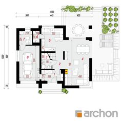 Dom w ambrozjach Mica, Floor Plans, How To Plan, House, House With Granny Flat, Home, Homes, Floor Plan Drawing, Houses