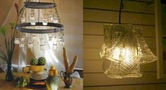 I kind of want to make a funky chandelier for over our bed..does not even need to be a light!