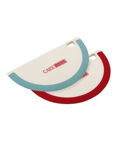 Loving this Blue & Red Silicone Bowl Scraper Set on #zulily! #zulilyfinds