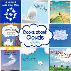 Book Mama: Books About Clouds {After School Linky} Books about Clouds I was introduced to the book, Cloudette, by my son's preschool teacher and was immediately smitten. My son loves it too. We have read it over and over and each time he… Preschool Weather, Weather Activities, Science Activities, Science Lessons, Science Projects, Science Experiments, Preschool Books, Kindergarten Science, Teaching Science