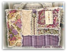 Rag Quilt Purse. Great fabric combo!