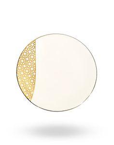 Gold Arabesque Dessert Plate