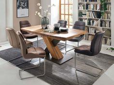 Krzesła do jadalni Baku - stół kolumnowy dębowy Sofas, Industrial Design, Office Desk, Bali, Diy Home Decor, Dining Table, Furniture, Trends, Family Dining Rooms