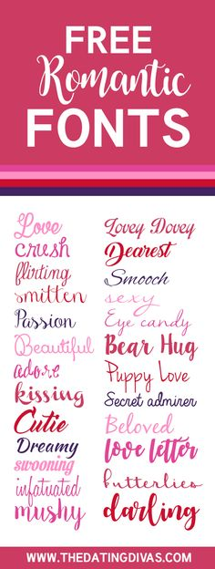 FREE Romantic Fonts-