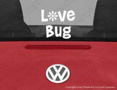 Hey, I found this really awesome Etsy listing at https://www.etsy.com/listing/188117920/love-bug-auto-decal-with-hippie-daisy