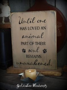 Mark, love the saying, but wpuld do it differently. Unawakened Dog Primitve Word Art Typography by GoldieLooWoodworks, $19.00