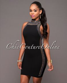 Chic Couture Online - Lyric Black Rhinestones Embellished Dress, $55.00 (http://www.chiccoutureonline.com/lyric-black-rhinestones-embellished-dress/)