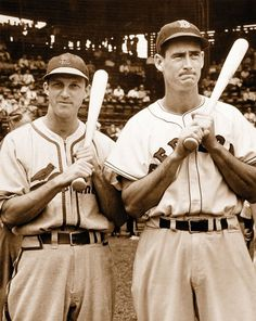 Stan Musial & Ted Williams...two of the best hitters of all time...