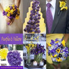 Purple and Yellow Wedding Colors - A pop of Yellow adds a vibrant touch to Purple.   #exclusivelyweddings This would be so pretty for June