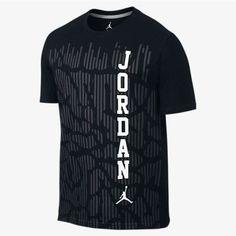 NEW MEN'S SIZE 3XL NIKE JORDAN BLACKOUT T-SHIRT BLACK GRAY WHITE ELEPHANT PRINT #NIKE #GraphicTee