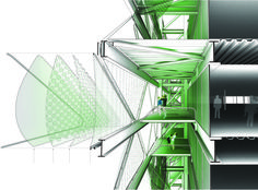 Cloud 9's Media TIC Building.  Barcelona, Spain.  dwg TH