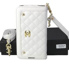 Street Style Fashion Chanel Camellia iPhone 6 Case - White - LeatheriPhone6Cases.com
