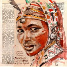 Browse all products in the Tirages papier d'art - Paper Art Prints category from Stephanie Ledoux. Gcse Art Sketchbook, Travel Sketchbook, Sketching, L'art Du Portrait, Portraits, African Tattoo, Art Visage, Afrique Art, Collages