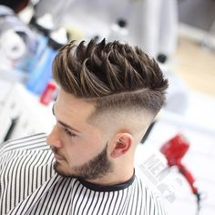 High SKin FADE with Brush-Up on Top
