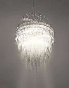 Waterfall chandelier inspirations #inspirations #designinspiration #moderninteriordesign decorate, interior design, luxury design . See more inspirations at www.luxxu.net