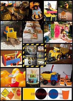 Construction Theme Party Decor | Kami Buchanan Custom Designs: Construction Party Theme!