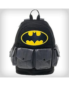 9eb812ab77 Batman Hooded Multipocket Backpack - DC Comics - Spencer s